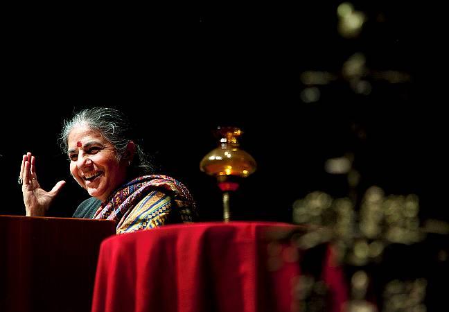 Vandana Shiva á Íslandi Mynd: Kristinn Ingvarsson