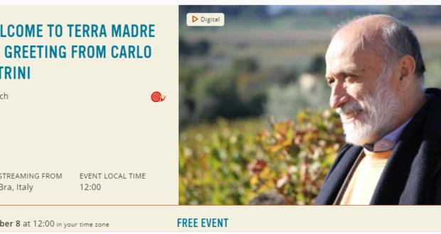 Carlo Petrini setur Terra Madre 2020